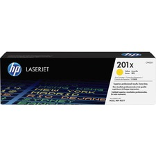 HP 201X (CF402X) Original Toner Cartridge - Single Pack - Laser - High Yield - 2300 Pages - Yellow - 1 Each