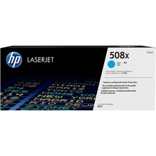 HP 508X (CF361X) Original Toner Cartridge - Single Pack - Laser - High Yield - 9500 Pages - Cyan - 1 Each