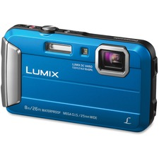 "Panasonic Lumix TS30 16 Megapixel Compact Camera - Blue - 1/2.33"" Sensor - Yes - 2.7""LCD - 4x Optical Zoom - 4x Digital Zoom - Optical (IS) - 1280 x 720 Video - HD Movie Mode"