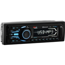 BOSS AUDIO MR1308UABK Marine Single-DIN MECH-LESS Multimedia Player (no CD or DVD), Receiver, Bluetooth, Detachable Front Panel, Wireless Remote