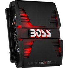 BOSS AUDIO PT1000 Phantom 1000-Watt Full Range, Class A/B 2 to 8 Ohm Stable 2 Channel Amplifier with Remote Subwoofer Level Control