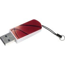 Verbatim 16GB Mini USB Flash Drive, Sports Edition - Basketball
