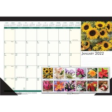 "HOD 1596 Doolittle EarthScapes Flowers 18-1/2"" Desk Pad HOD1596"