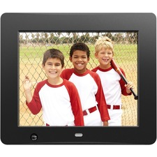 Aluratek 8 inch Digital Photo Frame with Motion Sensor and 4GB Built-in Memory