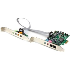StarTech.com 7.1 Channel Sound Card - PCI Express - 24-bit - 192KHz - 7.1 Sound Channels - Internal - C-Media CM8828 - PCI Express x1 - 92 dB - S/PDIF Out - TAA Compliant