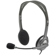 Logitech Stereo Headset H111 - Stereo - Mini-phone (3.5mm) - Wired - 32 Ohm - 20 Hz - 20 kHz - Over-the-head - Binaural - Supra-aural - 5.9 ft Cable - Noise Canceling
