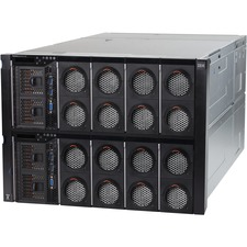 Lenovo System x x3950 X6 6241JCU 8U Rack-mountable Server - 4 x Intel Xeon E7-8890 v3 Octadeca-core (18 Core) 2.50 GHz - 128 GB Installed DDR4 SDRAM - 12Gb/s SAS Controller - 0, 1, 10 RAID Levels - 4 x 900 W