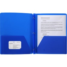 BSN 20886 Bus. Source 3-Hole Punched Poly Portfolios  BSN20886