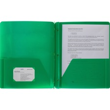 BSN 20888 Bus. Source 3-Hole Punched Poly Portfolios  BSN20888
