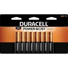 DUR MN1500B16Z Duracell CopperTop Alkaline AA Batteries DURMN1500B16Z