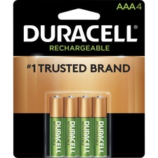 DUR NLAAA4BCD Duracell Ion Core Rechargeable AAA Batteries DURNLAAA4BCD