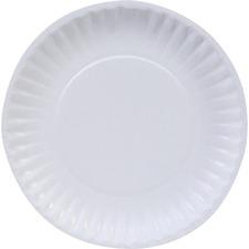 DXE DBP06W Dixie Foods Basic Paper Plates DXEDBP06W
