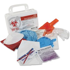 "ProGuard Bloodborne Pathogen Kit - 6"" Height x 12"" Width x 3"" Depth - Plastic Case - 1 Each"