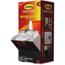 MMM 17081CABPK 3M Command Adhesive Medium Designer Hooks MMM17081CABPK