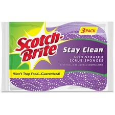 MMM 202038 3M Scotch-Brite Stay Clean Scrub Sponges MMM202038
