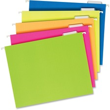 PFX 81672 Pendaflex Glow Colors Hanging File Folders PFX81672