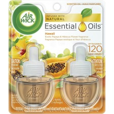 Air Wick Papaya Scented Oil - Oil - 0.7 fl oz (0 quart) - Hawaii Exotic Papaya, Hibiscus Flower - 45 Day - 2 / Pack