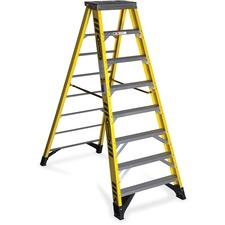 WER 7308 R D Werner Fiberglass 8' Step Ladder WER7308