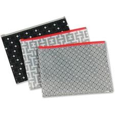 PFX 95194 Pendaflex Zipper Fashion Print Poly Envelopes PFX95194