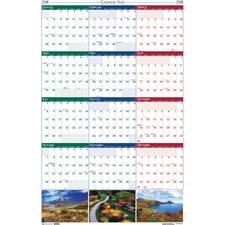 HOD 3930 Doolittle EarthScp. Scenic Laminated Wall Planners HOD3930