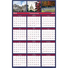 HOD 3986 Doolittle Monuments Laminated Wall Planners HOD3986