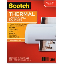 MMM TP585450 3M Scotch Thermal Laminating Pouches MMMTP585450