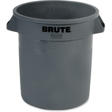 RCP 261000GY Rubbermaid Comm. Brute Round 10-gal Container RCP261000GY