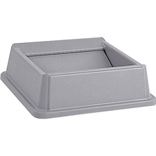 RCP 266400GY Rubbermaid Comm. Untouchable Square Swing Top RCP266400GY