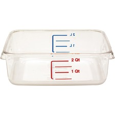 RCP 630200CLR Rubbermaid Comm. Space Saving Square Container RCP630200CLR