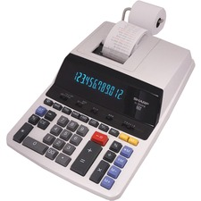 "Sharp Calculators EL-2630PIII 12-Digit Commercial Printing Calculator - 4.8 - Antimicrobial, Independent Memory, Sign Change, Backspace Key, Double Zero, Fixed Decimal - AC Supply Powered - 3.1"" x 9"" x 13.2"" - Off White - 1 Each"
