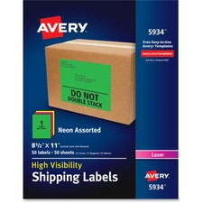 AVE5934 - Avery&reg Neon Shipping Labels
