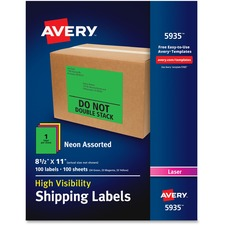 AVE5935 - Avery&reg Neon Shipping Labels