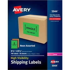 AVE5944 - Avery® Neon Shipping Labels