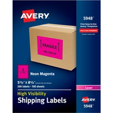 AVE5948 - Avery® Neon Shipping Labels