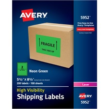 AVE5952 - Avery® Neon Shipping Labels