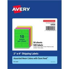 AVE5956 - Avery&reg Neon Shipping Labels