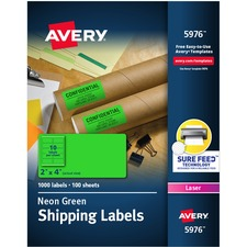 AVE5976 - Avery® Neon Shipping Labels