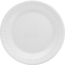DCC 6PWQRPK Dart Classic Laminated Foam Dinnerware Plates DCC6PWQRPK