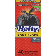 RFP E27744 Reynolds Hefty Easy Flaps 30-gal Large Trash Bags RFPE27744