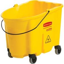 RCP 757088YE Rubbermaid Comm. 35-qt WaveBrake Mop Bucket RCP757088YE