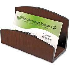 AOPART11001C - Artistic Eco-Friendly Bamboo Curves Business Card Holder