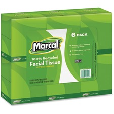 MRC 4034CT Marcal Upright Cube Recycled 2-ply Facial Tissue MRC4034CT