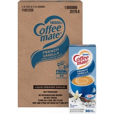 NES 35170CT Nestle Coffee-mate Vanilla Liquid Creamer Singles NES35170CT