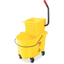 RCP 7480YEL Rubbermaid Comm. Wave Brake Side Press Mop Bucket RCP7480YEL