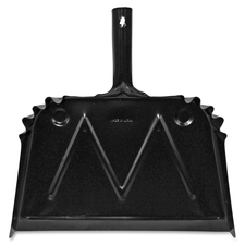 "Genuine Joe Heavy-duty Metal Dustpan - 16"" Wide - Metal - Black"
