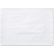HFM 601SE1014 Hoffmaster Straight Edge White Placemats HFM601SE1014