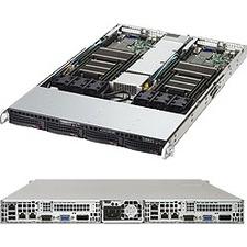 Supermicro SuperServer 6018TR-TF Barebone System - 1U Rack-mountable - Intel C612 Chipset - 2 Number of Node(s) - Socket LGA 2011-v3 - 2 x Processor Support - Black