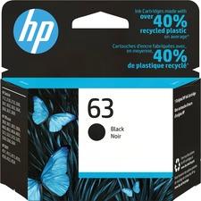 HP 63 Original Ink Cartridge - Single Pack - Inkjet - 190 Pages - Black - 1 Each