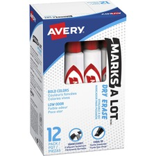 AVE 24407BX Avery Marks-A-Lot Chisel Tip Dry-erase Markers AVE24407BX