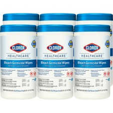 CLO 30577CT Clorox Healthcare Bleach Germicidal Wipes CLO30577CT